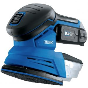 Draper - D20 20V Tri-Base (Detail) Sander with 1x 2Ah Battery and Charger