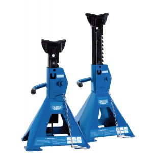 Draper - Pair of Pneumatic Rise Ratcheting Axle Stands (3 tonne)