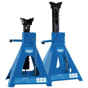 Draper - Pair of Pneumatic Rise Ratcheting Axle Stands (10 tonne)