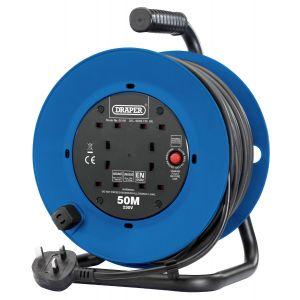 Draper - 230V Four Socket Industrial Cable Reel (50m)
