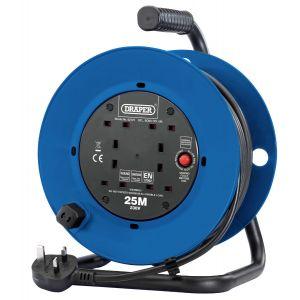 Draper - 230V Four Socket Industrial Cable Reel (25m)