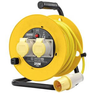 Draper - 110V Twin Extension Cable Reel (25M)