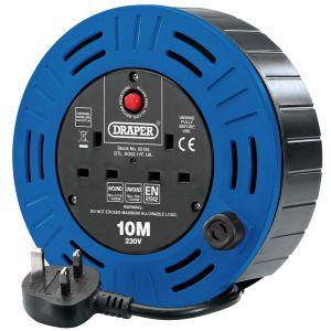 Draper - 230V Twin Socket Cable Reel (10m)