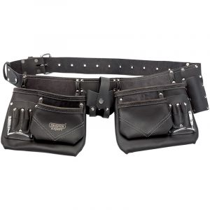 Draper - Oil-Tanned Leather Double Pouch Tool Belt