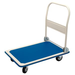 Draper - 300kg Platform Trolley with Folding Handle - 900 x 600 x 850mm