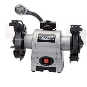 Draper - 150mm Bench Grinder With Worklight (370W)