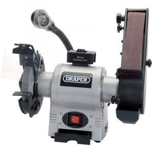Draper - 150mm Bench Grinder with Sanding Belt and Worklight (370W)