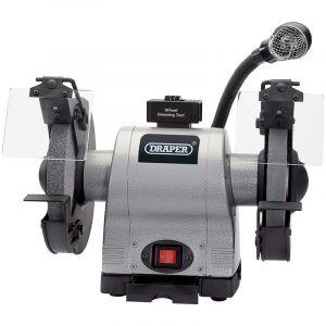 Draper - 200mm Heavy Duty Bench Grinder with Worklight (550W)