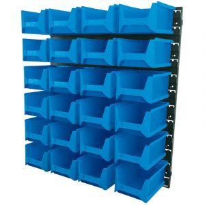 Draper - 24 Bin Wall Storage Unit (Large Bins)