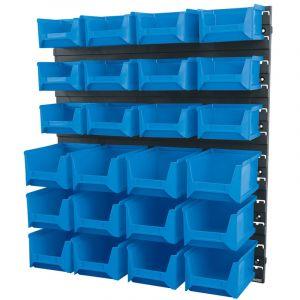 Draper - 24 Bin Wall Storage Unit (Small/Medium Bins)