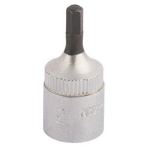 """Draper - 3mm 1/4"""" Sq. Dr. Elora Hexagon Screwdriver Socket"""