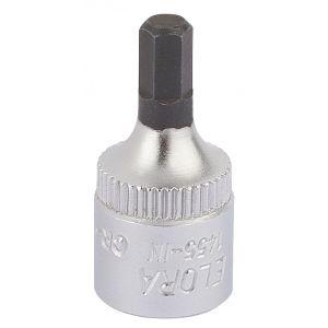 """Draper - 4mm 1/4"""" Sq. Dr. Elora Hexagon Screwdriver Socket"""