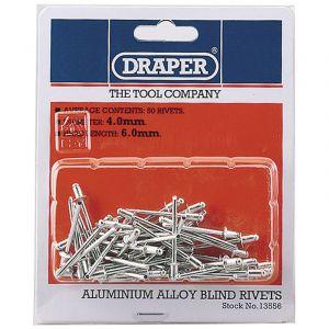 Draper - 50 x 4mm x 5.6mm Blind Rivets