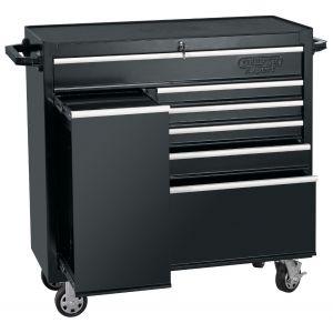 "Draper - 42"" Roller Tool Cabinet With Side Locker (6 Drawer)"