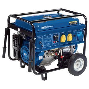 Draper - Petrol Generator with Wheels (6.5kVA/6.0kW)