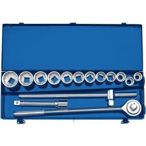 "Draper - 3/4"" Sq. Dr. Metric Socket Set in Metal Case (15 Piece)"