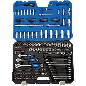 "Draper - 1/4"", 3/8"" and 1/2"" Sq. Dr. Metric Tool Kit (214 Piece)"