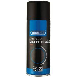 Draper - Matt Black Spray Paint (400ml)