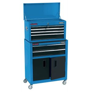 """Draper - 24"""" Combined Roller Cabinet and Tool Chest (6 Drawers)"""