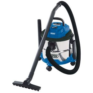 Draper - 15L Wet and Dry Vacuum Cleaner with Stainless Steel Tank (1250W)
