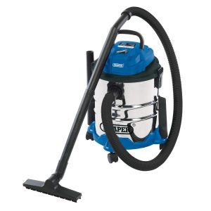 Draper - 20L Wet and Dry Vacuum Cleaner with Stainless Steel Tank (1250W)