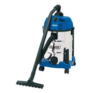 Draper - 30L Wet and Dry Vacuum Cleaner with Stainless Steel Tank (1600W)