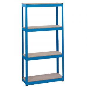 Draper - Steel Shelving Unit - Four Shelves (L760 x W300 x H1520mm)
