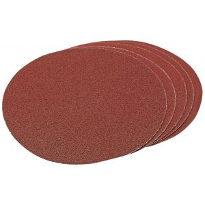 Draper - 200mm Assorted Hook and Eye Backed Aluminium Oxide (Pack of 5)