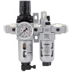 "Draper - 1/4"" BSP Combined Filter/Regulator/Lubricator Unit (FRL)"