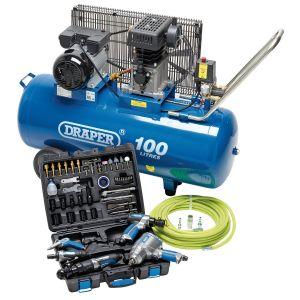 Draper - Jumbo Air Tool and Compressor Kit