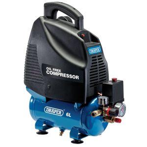 Draper - 6L Oil-Free Air Compressor (1.1kW)