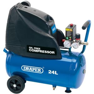 Draper - 24L Oil-Free Air Compressor (1.1kW)