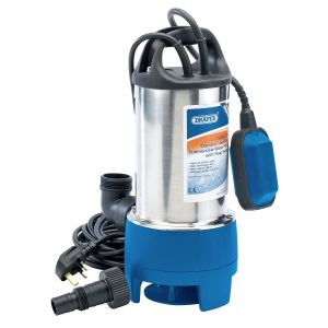 Draper - 208L/Min Stainless Steel Submersible Dirty Water Pump with Float Switch (750W)