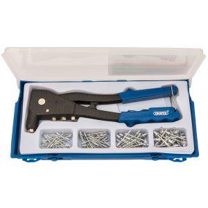 Draper - Hand Riveter Kit for Aluminium Rivets Aluminium Body