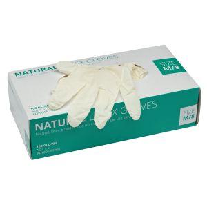 Draper - White Latex Gloves - Size Medium (Box of 100)