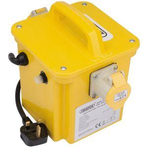 Draper - 1kVA 230V to 110V Portable Site Transformer