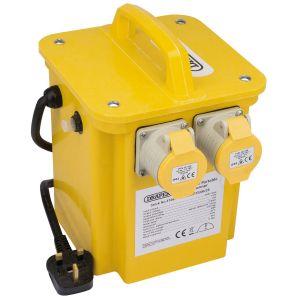 Draper - 3.3kVA 230V to 110V Portable Site Transformer