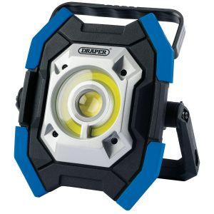 Draper - Twin COB LED Rechargeable Work Light (Blue)