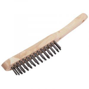 Draper - 4 Row Wire Scratch Brush (290mm)