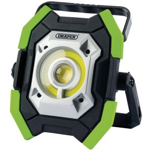 Draper - Twin COB LED Rechargeable Work Light (Green)