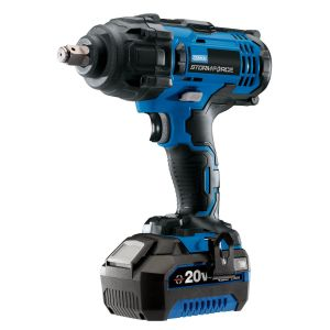 """Draper - Draper Storm Force® 20V 1/2"""" Mid-Torque Impact Wrench (400Nm) With (+1x 4Ah Battery and Charger)"""