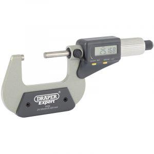 """Draper - Dual Reading Digital External Micrometer - 25-50mm/1-2"""""""