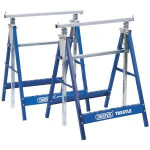 Draper - Pair of Telescopic Saw Horses or Builders Trestles