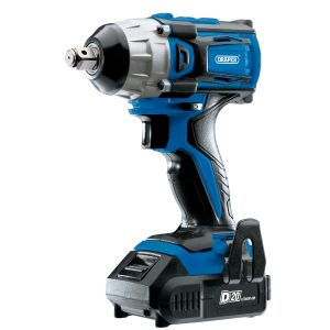 """Draper - D20 20V Brushless 1/2"""" Mid-Torque Impact Wrench with 2x 2Ah Batteries and Charger (250Nm)"""