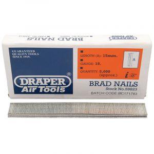 Draper - 15mm Brad Nails (5000)