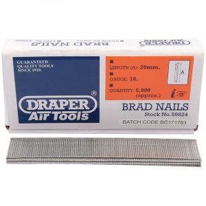 Draper - 20mm Brad Nails (5000)