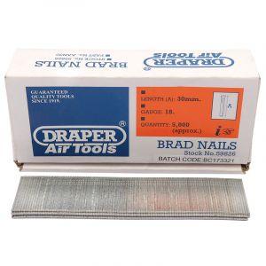 Draper - 30mm Brad Nails (5000)