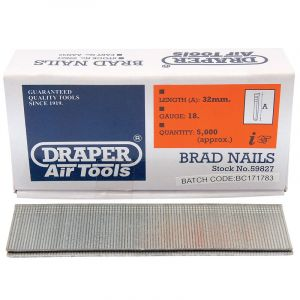 Draper - 32mm Brad Nails (5000)