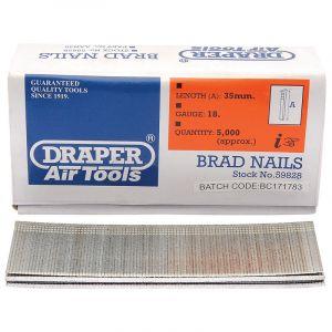 Draper - 35mm Brad Nails (5000)