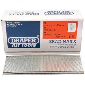 Draper - 38mm Brad Nails (5000)